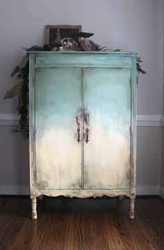 Old world aged armoire. Chalk Paint Furniture, Furniture Projects, Diy Furniture, Vintage Furniture, Inexpensive Furniture, Furniture Websites, Furniture Removal, Refurbished Furniture, Furniture Makeover
