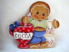 HP Gingerbread Fridge Magnet - Ginger's Cocoa