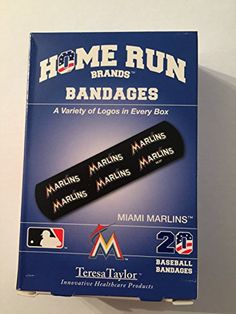 Home Run Brands Miami MARLINS Bandages 1 box 20 bandages ** More info could be found at the image url.