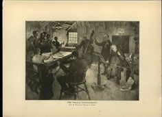 The Village Philharmonic from painting by Stanhope Forbes 1914 Etching ART PRINT  | eBay #art #antique #etching #painting