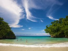Frenchman's Cove, Jamaica  In Port Antonio, this small white-sand crescent set on lush acreage lapped by bathwater-warm sea is a favorite. Bonus: the river that runs through the 48-acre property down to the surf.