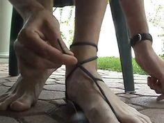 ▶ caballo blanco: How to make huaraches Tarahumara running sandals - YouTube