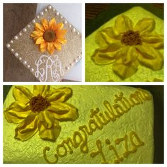 Graduation cake to go with grad's flower on her cap.