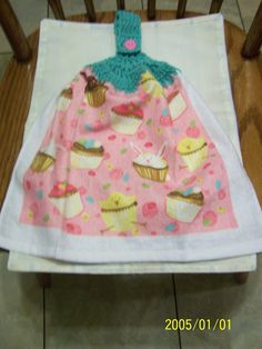 Easter Cupcake Crochet Top Kitchen Towel by kayandgirlscrafts, $3.00