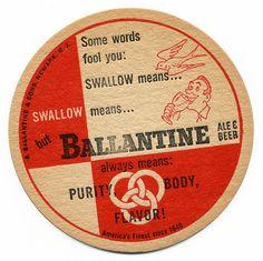 Ballantine Ale & Beer. P Ballantine & Sons. Newark, N.J.