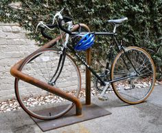 A prototype for a bike rack designed by David Baker + Partners