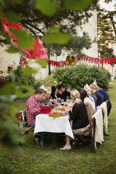 The crayfish party, at which people gather to eat, drink and be merry, is a typically Swedish festivity marking the end of the summer. Photo by Carolina Romare