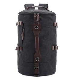 www.facebook.com/hzkenuo Berchirly Casual Men Canvas Backpack Rucksack Bucket Hiking Bag for Travelling Gym Outdoor Activities