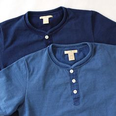 BLURHMS Ornament Stitch Henley - Silver and Gold Online Store