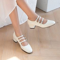 1908BLA48776 (14) Block Heel Loafers, Shoes Heels Pumps, Thick Heels, Mary Jane Shoes, Toe Shape, Clothing Items, Mary Janes, Shoe Boots, Spring Outfits