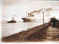 The Titanic leaving Belfast
