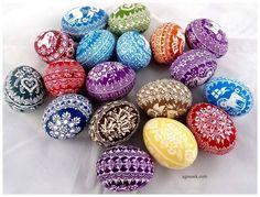 AGNUSEK - Danuta Sroka - Pisanki drapane, batikowe, wycinanki i inne Quilling, Easter Eggs, Religion, Spirituality, Hand Painted, Projects, Diy, Match Boxes, Haha