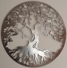 Tree Of Life, LARGE Wall decor, Metal Art. $37.00, via Etsy.