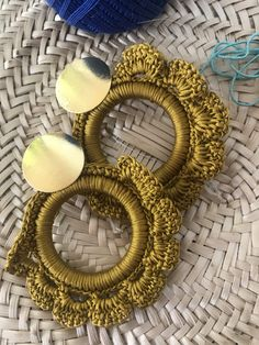 REVOLIA Stainless Steel Nose Ring Hoop Septum Piercing Cliker Ring Cartilage Stud Earrings Ball CZ Tragus Helix Piercing S – Fine Jewelry & Collectibles Wire Crochet, Crochet Crafts, Crochet Stitches, Diy Earrings, Earrings Handmade, Crochet Earrings, Crochet Jewelry Patterns, Crochet Designs, Textile Jewelry