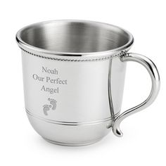 Personalized Pewter Baby Cup , Add Your Message