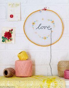A happy wall doily