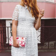 Whimsy Soul | San Francisco fashion blogger. Romantic white lace Crochet Dress Chicwish for plus size and curvy women.
