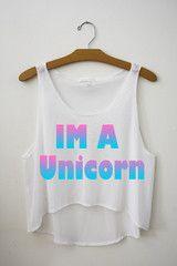 Im a unicorn Crop Top
