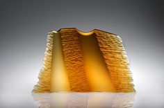 Peter Bremers, Colorado Cliffs, 2011, Kiln-cast glass, 16x25x4