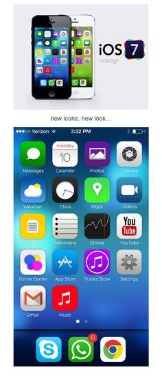 ios7 redesign . new icons, new look.  #ios7 #design #icons #nikhil