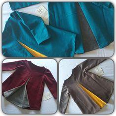 Vestiti con pence dietro a contrasto in felpa garzata