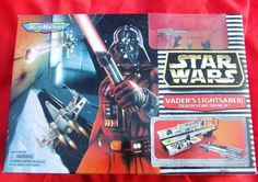 #StarWarsMicroMachines VADER'S LIGHTSABER/DEATH STAR TRENCH Set MISB #Galoob