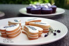Hand painted lavender cookies