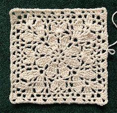 Crochet Motifs, Crochet Blocks, Granny Square Crochet Pattern, Afghan Crochet Patterns, Crochet Squares, Knitting Patterns, Granny Squares, Crochet Granny, Granny Granny