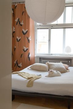 Pinja Forsman's home Sweet Dreams, Bedhead, Curtains, Album, Interior Design, Bedroom, House Styles, Homes, Inspiration