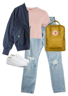 """Untitled #13484"" by alexsrogers ❤ liked on Polyvore featuring Topshop, Acne Studios, Vans and Fjällräven"