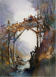 Memorial Day. Thomas W Schaller. Watercolor on #Fabriano Artistico. 30x22 Inches 30 May 2016.