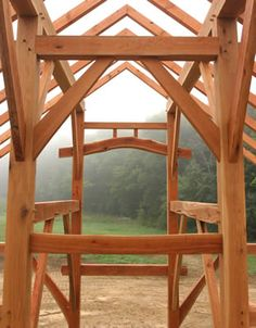 with its strong structure and timeless style, a timber frame home will never disappoint. Timber Frames, Timber Frame Homes, Home Engineering, Metal Beam, Barn Shop, Timber Roof, Timber Structure, Wooden Buildings, Post And Beam