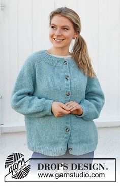Drops Design, Jumper Patterns, Cardigan Pattern, Knitting Wool, Knitted Poncho, Free Knitting Patterns For Women, Sweater Design, Cardigans For Women, Diy Clothes