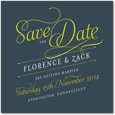 Lettering | Save The Date