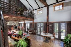 converted barn- I want to live in a barn:)