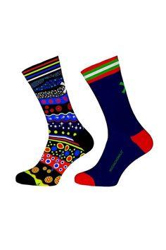 Muchachomalo sokken voor jongens Motor, blauw