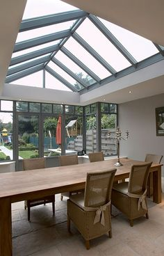 The addition of roof windows to a new extension or to an existing part of the home is a wonderful way to let in additional natural light. #windows #roofwindows #skywindows