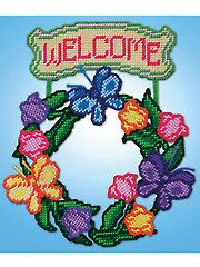 Welcome Wreath Kit | Welcome your guests with a colorful welcome sign. |