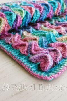 Unforgettable Yarn Crochet Patterns | Sea Song Blanket Crochet Pattern by Felted Button
