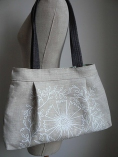 I really want to sew an adorable bag.  I can never find bags I like that are affordable.
