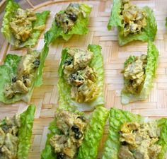 Curry Chicken Salad Lettuce Cups | Delish! @Debra Lapierre