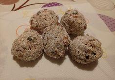 Palline energetiche Fichi secchi, semi di zucca e cocco