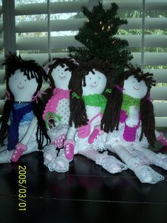 Dolls I made for the granddaughters!