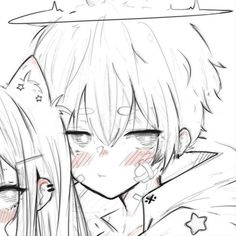Cute Anime Profile Pictures, Matching Profile Pictures, Friend Anime, Anime Best Friends, Anime Couples Drawings, Couple Drawings, Bff, Cute Anime Coupes, Anime Poses Reference