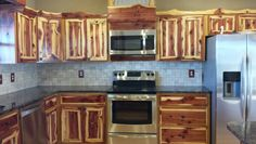 Rustic Red Cedar Kitchen Cabinets Modern Frontier Log Furniture On Fb