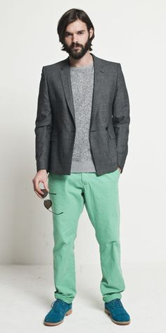 Green chinos / colored pants