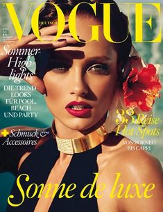 Vogue Germany June 2013: Karmen Pedaru photographed by Alexi Lubomirski.