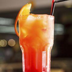 Carpe Diem 1 1/2 parts Cruzan® Mango Rum 1/2 part Cruzan® Orange Rum 1 part Orange Juice Dash Grenadine Splash Soda Water Garnish Lime Wedges