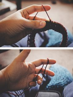 #Knitting #Tutorial - Continental Knitting - Easier for crocheters to learn - Faster knitting! - Excellent tutorial from craftsy.