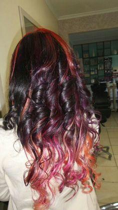 I love the pinks, purple and orange